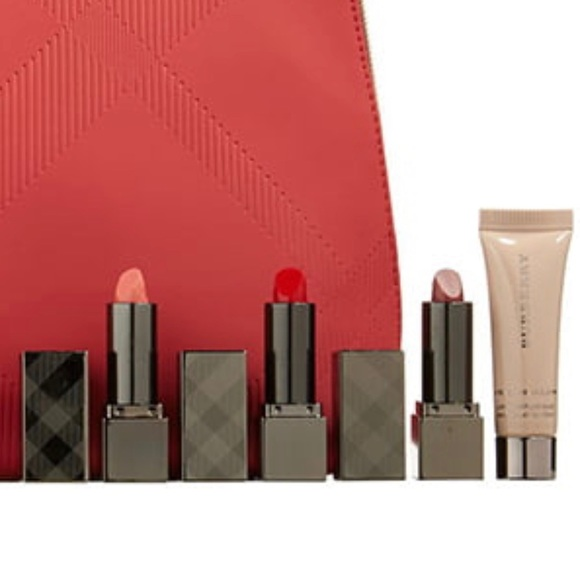 Burberry Other - BURBERRY Beauty Bundle Lot x4 Lipsticks + Primer
